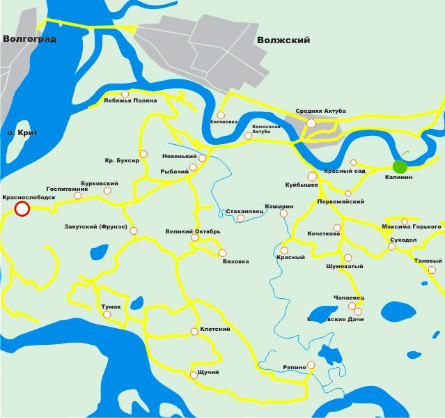 Ветерок на карте
